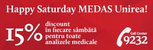 Ai 15% discount la toate analizele medicale cu Happy Saturday!